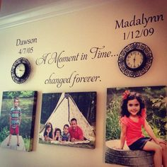 A Moment in Time changed forever birth dates Vinyl Decal Wall Art Lettering Decals on Etsy, $32.95