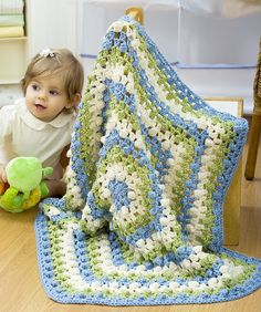 Ravelry: Hexagon Baby Blanket pattern by Mary Ann Frits