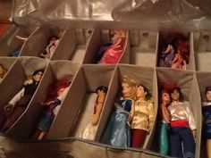 It really works! Under bed shoe organizer for Barbies!!!