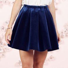 LC Lauren Conrad Runway Collection Pleated Velvet Skirt - Women's