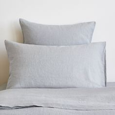 Light Grey Washed Linen Duvet Cover