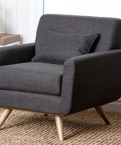 Look at this #zulilyfind! Gray Hunter Linen Armchair #zulilyfinds $340 Weight capacity: 325 lbs 32'' W x 34'' H x 32'' D Seat: 19'' H Wood / linen Imported