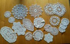 Biete verschiedene Deckchen an weiß und Cremefarben. Sie stammen aus dem Nachlass meiner Oma, sind...,Häckeldeckchen, Baumwolldeckchen 58 Teile in Sachsen-Anhalt - Coswig