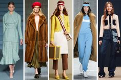 From left to right: Emilia Wickstead, Gucci, Bally, Lacoste and See by Chloe. Photos: Imaxtree, Bally and See by Chloe