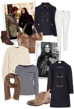 Same style as her Story, Ali McGraw preppy inspiration peacoat, fisherman sweater stripes, brown leather bag white jeans Preppy Inspiration, Mode Inspiration, Beautiful Outfits, Cool Outfits, Beautiful Things, Preppy Style, My Style, Curvy Style, Retro Style