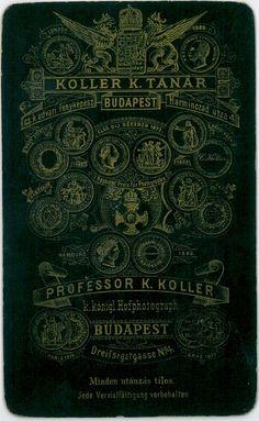 Koller Karoly Tanar Budapest On The Reverse Side Professor Ephemera Carte