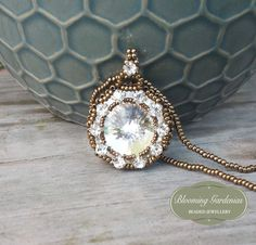 Beautiful Vintage/Victorian Inspired Hand Beaded Pendant Necklace. Absolutely a timeless piece. BloomingGardenias on Etsy