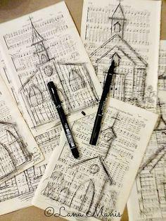 Honeysuckle Lane: Something Simple & Nostalgic in the Making; Hymn Art, Bible Art, Book Art, Crafts To Make, Fun Crafts, Arts And Crafts, Paper Crafts, Geek Crafts, Sheet Music Crafts