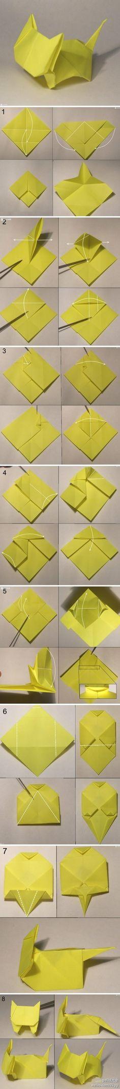 【可爱小猫折纸】 是不是很口耐~