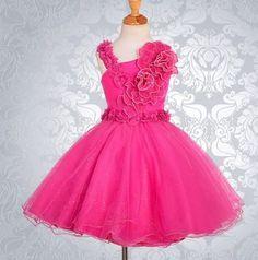 my niece Kamya's dress Wedding Flower Girl Dresses, Wedding Bridesmaid Dresses, Flower Girls, Dress Wedding, Fashion Show Themes, Hot Pink Weddings, Real Weddings, Pageant Dresses, Pageant Wear