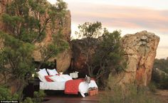 Open air retreat: There is also an option for nature-lovers to sleep under the stars on your their rocky outcrop