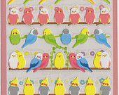 Kawaii Japan Sticker Sheet Assort: 2 Sheets Small Parrots  https://www.etsy.com/listing/186391689/kawaii-japan-sticker-sheet-assort-2?ref=shop_home_active_1