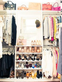 Closet organization. Casual on one side and professional on the other!