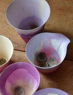 how to make dip dye cups! so pretty!