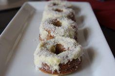 donut with vanilla frosting #glutenfree #grainfree #lowcarb #keto #LCHF #paleo