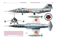 Lockheed TF-104G, c/n 583C-5529, USAF s/n 65-09415. Assigned to the 104 Escuadrón of Spanish Air Force (104-23), Torrejón de Ardoz, 1968.                                                                                                                                                                                 Más