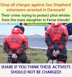 ATTN: Faroe Islands & Denmark!   GET EVOLVED PEOPLE! RELEASE THE SEA SHEPERD HEROES! YOU ARE ALL BREAKING INTERNATIONAL LAWS NOT TO MENTION THE SANCTITY OF MORALITY! GET UNSTUCK FROM YOUR ABOMINABLE TIME WARP!! YOUR HEINOUS ATROCITIES ARE NO LONGER ACCEPTABLE IN 21ST CENTURY CIVILIZATION! Humanity used to burn witches - WE DON'T DO THAT ANYMORE! SHAME ON YOU ALL!   PLEASE SIGN AND SHARE WIDELY!