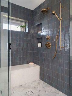 gray zellige shower
