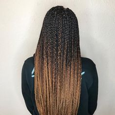 Top 60 All the Rage Looks with Long Box Braids - Hairstyles Trends Ombre Box Braids, Colored Box Braids, Triangle Box Braids, Box Braid Wig, Blonde Box Braids, Jumbo Box Braids, Braids For Short Hair, Long Braids, Box Braids Hairstyles