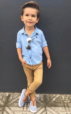 Children and Young Cute Boy Outfits, Outfits Niños, Little Boy Outfits, Little Boy Style, Toddler Boy Fashion, Little Boy Fashion, Toddler Boy Outfits, Toddler Boy Style, Boys Fashion Summer