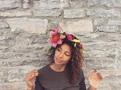 A unique Flower Crown that I made for a styled photo-shoot