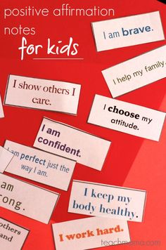 positive affirmation notes for kids: lunchbox love  | backtoschool  freeprintable teachmama.com --> DEFINITELY a keeper