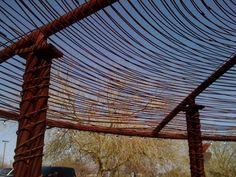 rebar sun canopy at the desert botanical garden in phoenix