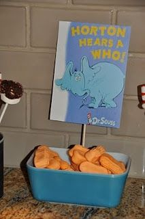 Candy peanuts!. Dr. Seuss Party - Horton Snack