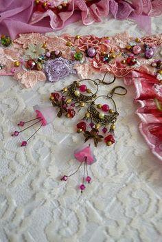 Cercei cu iz romantic Spring Flowers