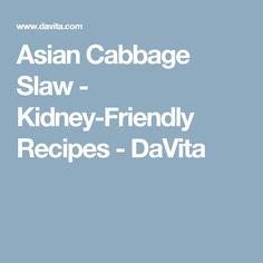 Asian Cabbage Slaw - Kidney-Friendly Recipes - DaVita
