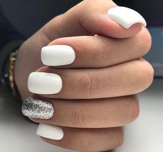 30 trendy glitter nail art design ideas for With glitter nails . - Adela Marry - 30 trendy glitter nail art design ideas for With glitter nails … – # Glitter nails # - Nagellack Design, Nagellack Trends, Best Acrylic Nails, Acrylic Nail Designs, White Nail Designs, Nail Designs With Glitter, Accent Nail Designs, Acrylic Art, Pink Nails