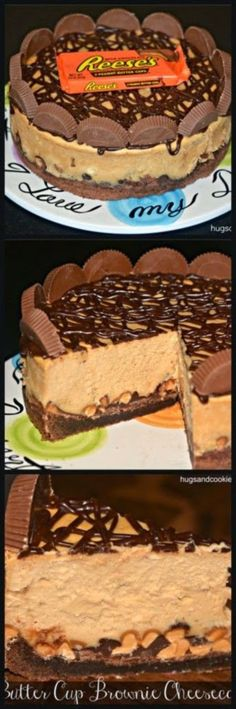 Favorite Recipes: Reese's Peanut Butter Cup Cheesecake On A Brownie Crust