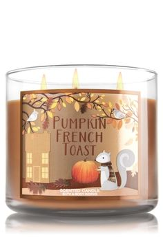 Pumpkin French Toast - 3-Wick Candle - Bath & Body Works - Warm Maple Syrup, Pumpkin Spice, Caramelized Brown Sugar