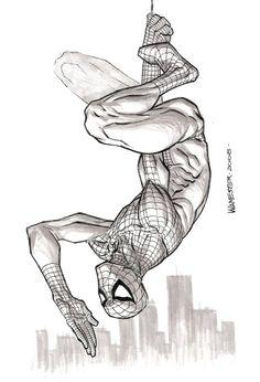 Black & White Spiderman Sketches