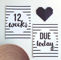 http://www.ruggabub.com.au/unique-gifts/stripe-pregnancy-milestone-cards-4-weekly/ Stripe pregnancy Milestone Cards - 4 weekly - Ruggabub Boutique