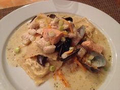 Seafood mit Krebsravioli