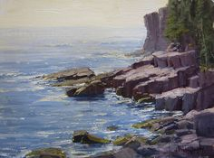 Otter Cliffs View by Kathleen Dunphy Oil ~ 12 x 16