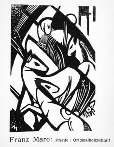 Horses   LACMA Collections Horses Alternate Title: Pferde Volume, number, page: 3 no. 129 (1912); page 163 Franz Marc (Germany, 1880-1916) Germany, 1912 Prints; woodcuts Woodcut on wove paper Image: 5 1/4 x 3 9/16 in. (13.33 x 9.04 cm) The Robert Gore Rifkind Center for German Expressionist Studies, purchased with funds provided by Anna Bing Arnold, Museum Associates Acquisition Fund, and deaccession funds (83.1.1391.31)