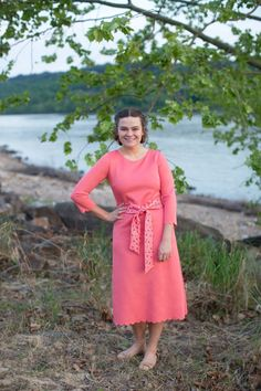 Modest Fashion | Modest Bridesmaid Dresses | Modest Swimwear | Pink Summer Lovin' Swimdress by Dainty Jewell's