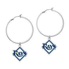 Tampa Bay Rays MLB Hoop Earrings