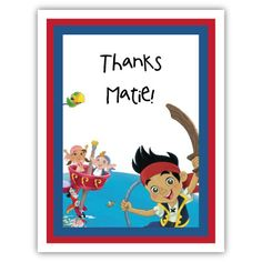 jake and the neverland pirates party | Jake and the Neverland Pirates note cards, Jake and the Neverland ...