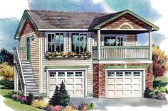 House Plan 18-4526http://www.houseplans.com/plan/583-square-feet-1-bedrooms-1-bathroom-traditional-house-plans-2-garage-4513