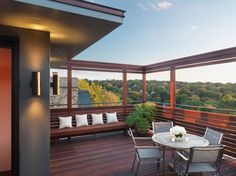 an impressive rooftop deck addition