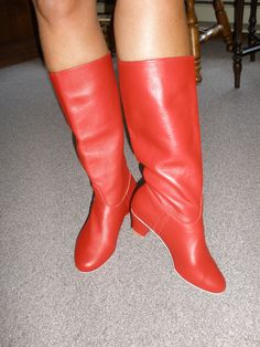 Red Polish Dance Boots Goes With The Piercing Whoop The