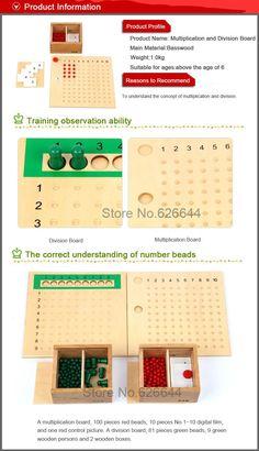 2 embalagens / lote profissional Montessori de aprendizagem e educação brinquedos de madeira brinquedos de multiplicação e divisão em Brinquedos de matemática de Brinquedos & Lazer no AliExpress.com   Alibaba Group
