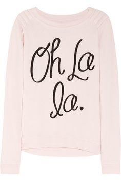 Zoe Karssen Oh La La cotton-blend jersey sweatshirt NET-A-PORTER.COM