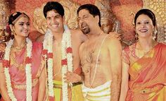 Indian cricketer #AnirudhaSrikkanth and his wife #Arthi.