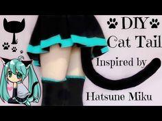 DIY Cat Tail Inspired by Hatsune Miku   Halloween DIY - YouTube