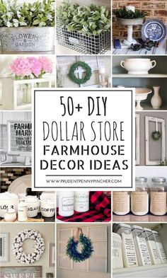 Get the farmhouse look for less with these 50 DIY farmhouse decor ideas so that you can give your home some farmhouse charm without breaking the bank or spending too much time on the projects. Dollar Store Galvanized Planters $1 planter + salt + vinegar + hydrogen peroxide + paper towels + oil permanent marker …