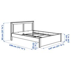 """Yatak mobilyası SONGESAND Bed frame - white - IKEA Remember, """"used furniture"""" does not necessarily m Bed Frame Legs, High Bed Frame, Malm Bed Frame, Steel Bed Frame, King Size Bed Frame, Bed Frame And Headboard, Diy Bedframe With Storage, Bed Frame With Storage, Under Bed Storage"""